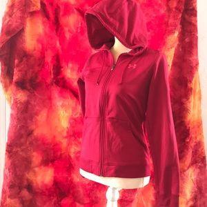 Under Armour pink full zip jacket